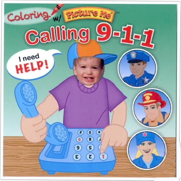 Coloring With Picture Me(r) - Children's Coloring Book On Calling 9-1-1 Photo