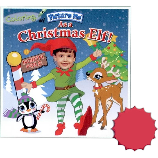 Coloring With Picture Me(r) - Children's Coloring Book As A Christmas Elf Photo