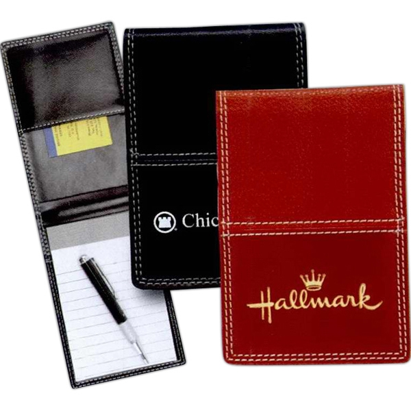 Milano - Textured Premium Vinyl, Contrasting Stitched Construction,flip-top Opening Jotter Photo