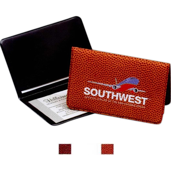 "Sports Business Card Holder With ""real-feel"" Sports-ball Print Material Exterior Photo"