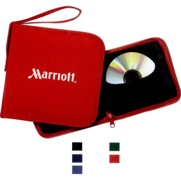 Basics (r) - 600d Polyester With Padded Covers Cd Case. Holds 12 Cd's/dvd's Photo