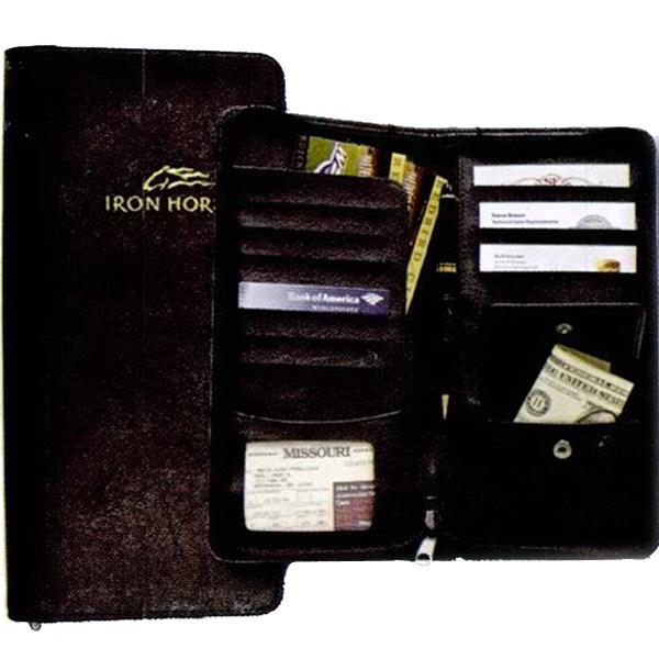 Business Essentials Zippered Travel Wallet