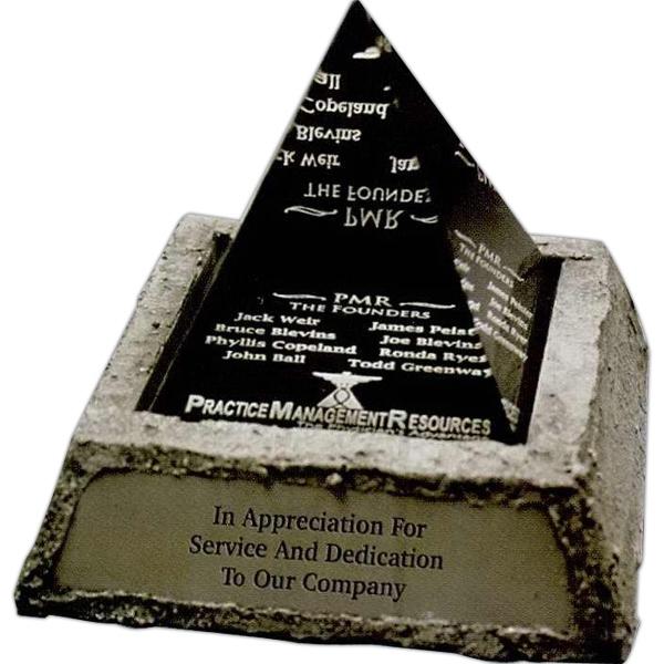 Acrylic Pyramid Award with Stone Base