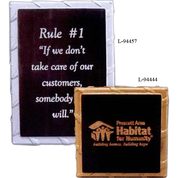 "4"" X 4"" X 3/4"" - Solid Stone Award Plaques With Their Rigid Look Of Steel Plates Are A Great Fit Photo"
