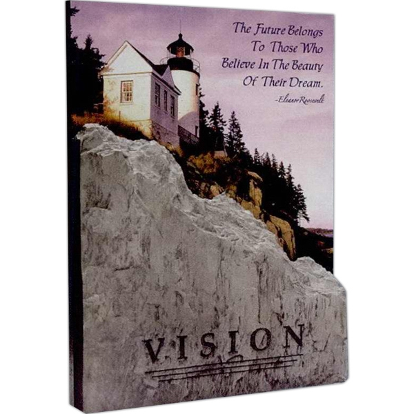 Summit Stone - Summit Stone Peak Award Plaque Can Be Set On A Desk Or Hung On The Wall Photo
