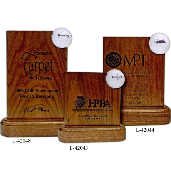 "6"" X 6"" X 2"" - Golf Awards Made From Solid, American Walnut Photo"