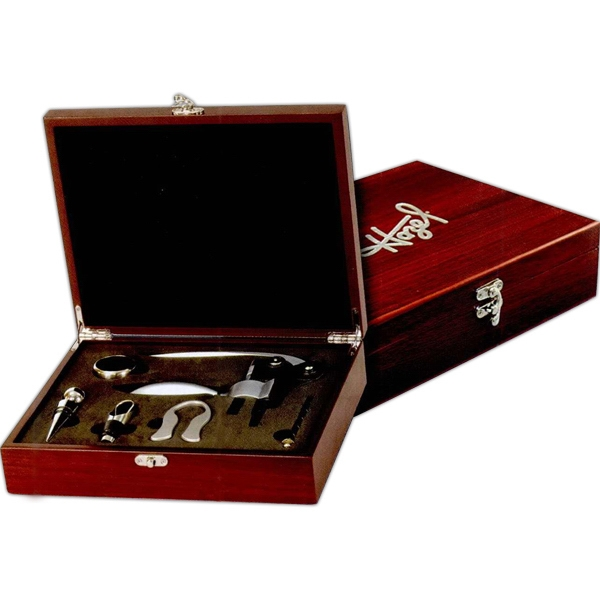 5 Piece Wine Set Box Includes Corkscrew, Wine Stopper And More Photo