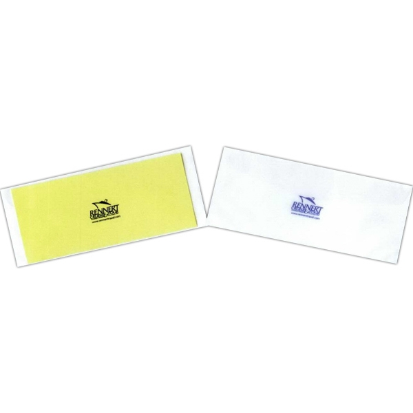 Letter Size Matte Clear Vinyl Envelope With Fold Over Flap Photo