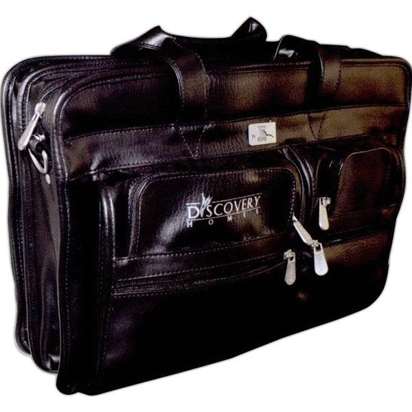 Soft Vinyl Zippered Attache With Handles,shoulder Strap, Etc Photo