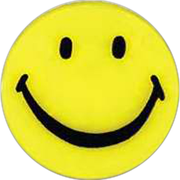 Smiley-face Shaped Plastic Lapel Pin With A Clutch Back Photo