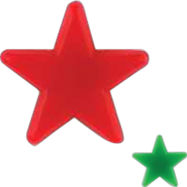 Star-shaped Plastic Lapel Pin With A Clutch Back Photo