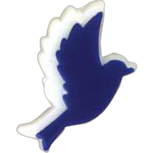 Bird-shaped Plastic Lapel Pin With Clutch Back Style Photo
