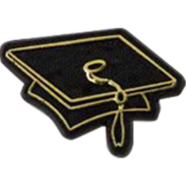 Graduation Cap-shaped Plastic Lapel Pin With Clutch Back Style Photo