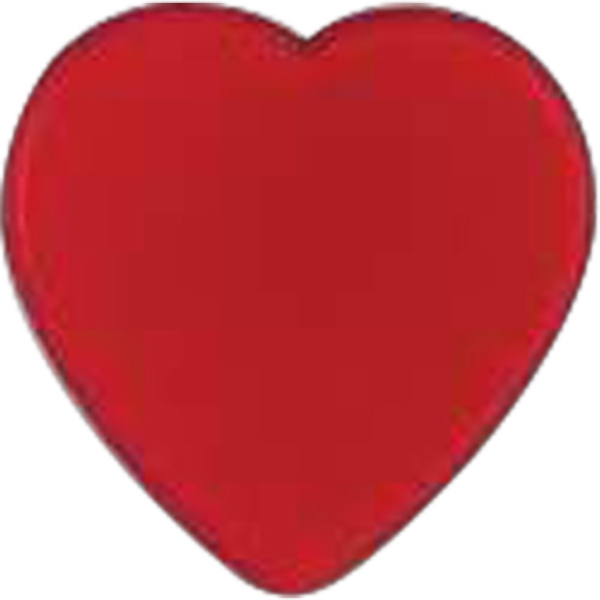 Heart-shaped Plastic Lapel Pin With Clutch Back Style Photo