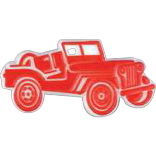 Jeep Car Shaped Plastic Lapel Pin With Clutch Back Style Photo