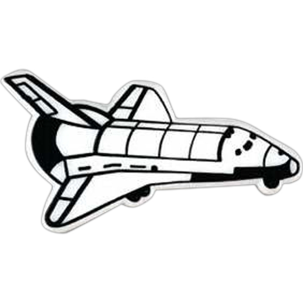 Space Shuttle Shaped Plastic Lapel Pin With Clutch Back Style Photo