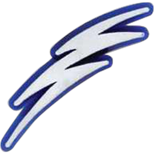 Lightning Bolt Shaped Plastic Lapel Pin With Clutch Back Style Photo
