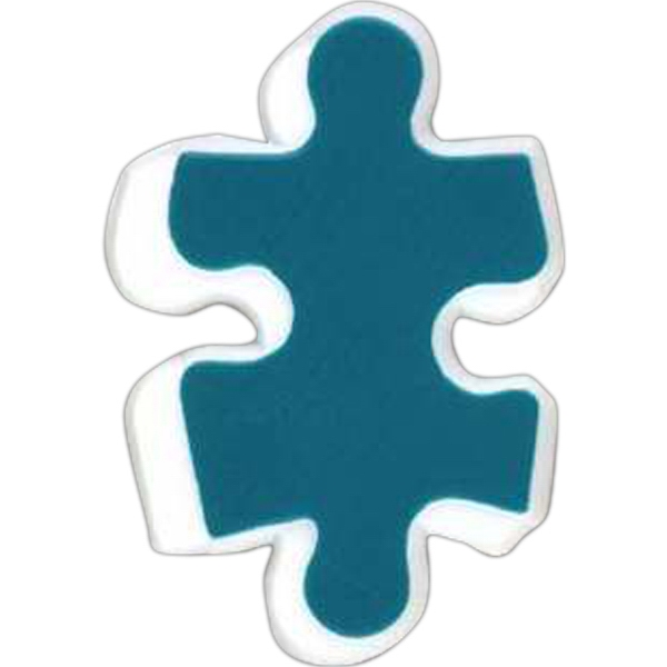 Puzzle Piece-shaped Plastic Lapel Pin With Clutch Back Style Photo