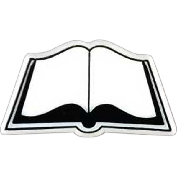 Open Book-shaped Plastic Lapel Pin With Clutch Back Style Photo