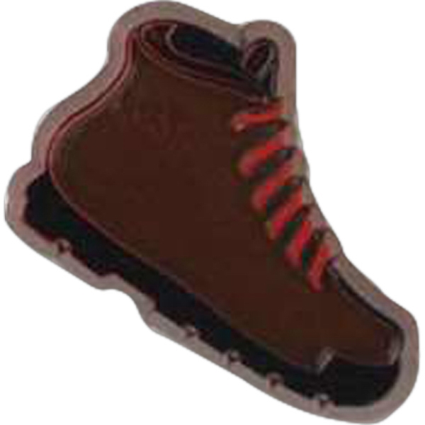Boot-shaped Plastic Lapel Pin With Clutch Back Style Photo