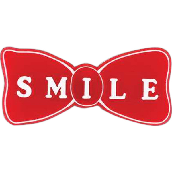 "Bow Tie-shaped Plastic Lapel Pin With ""smile"" Lettering Photo"