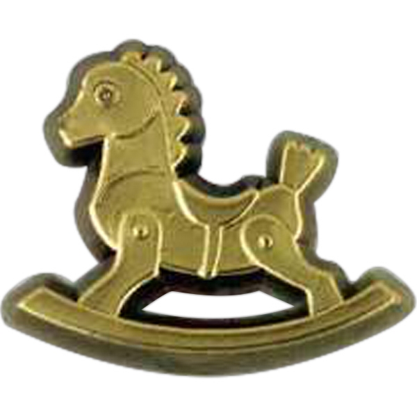 Rocking Chair Shaped Plastic Lapel Pin With Clutch Back Style Photo