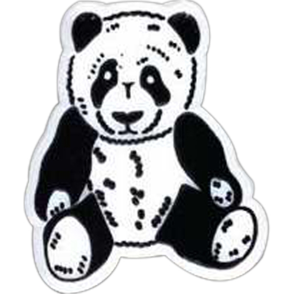 Panda-shaped Plastic Lapel Pin With Clutch Back Style Photo