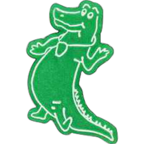 Alligator-shaped Plastic Lapel Pin With Clutch Back Style Photo