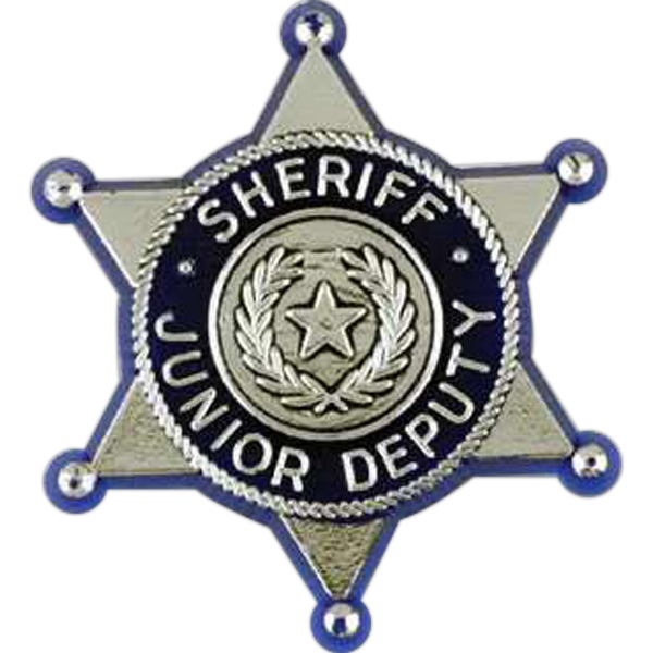 Junior Deputy Sheriff Badge-shaped Plastic Lapel Pin With Clutch Back Style Photo
