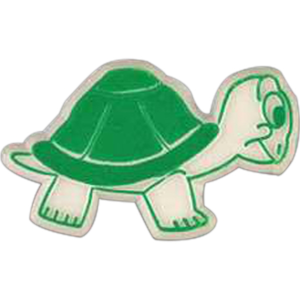 Turtle Shaped Plastic Lapel Pin With Clutch Back Style Photo