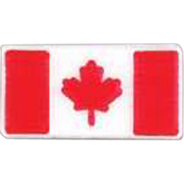 Canadian Flag-shaped Plastic Lapel Pin With Clutch Back Style Photo