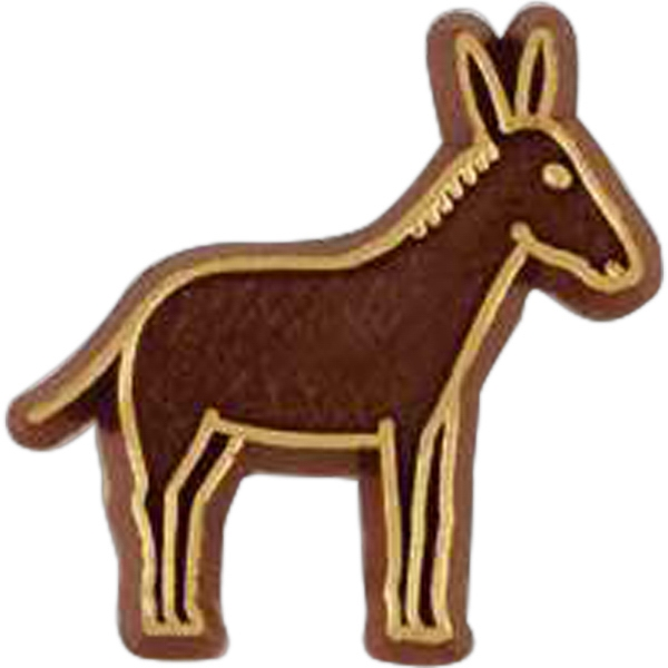 Donkey-shaped Plastic Lapel Pin With Clutch Back Style Photo
