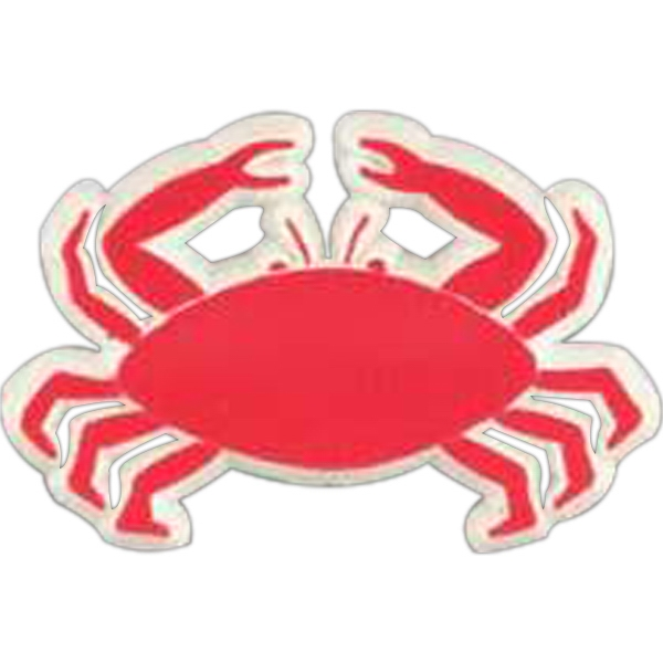 Crab-shaped Plastic Lapel Pin With Clutch Back Style Photo