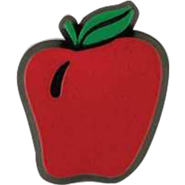 Apple-shaped Plastic Lapel Pin With Clutch Back Style Photo