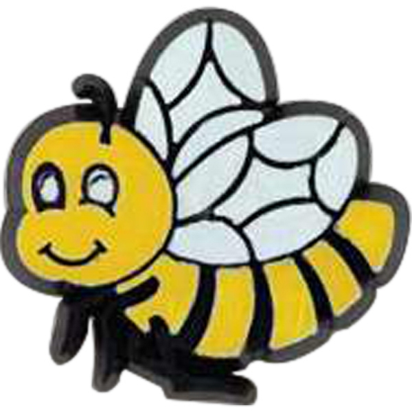 Bee-shaped Plastic Lapel Pin With Clutch Back Style Photo