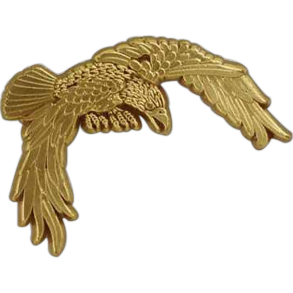 Flying Eagle-shaped Plastic Lapel Pin With Clutch Back Style Photo