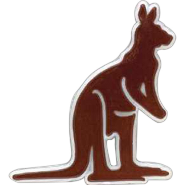 Kangaroo-shaped Plastic Lapel Pin With Clutch Back Style Photo