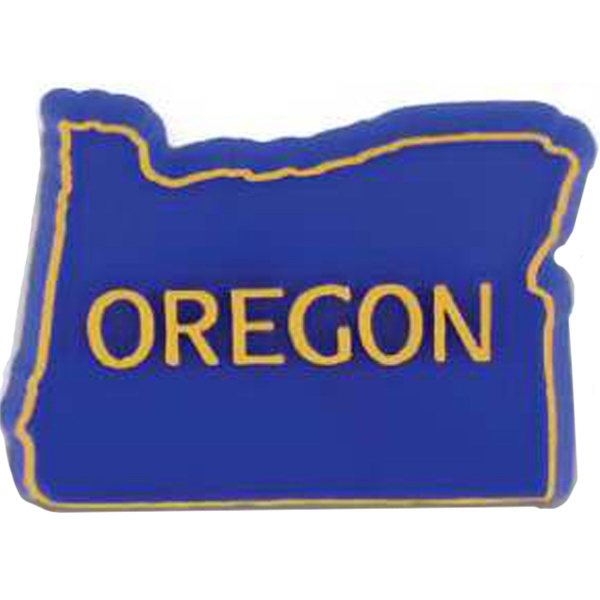 Oregon - Plastic Stock State Design Lapel Pin With A Clutch Back Photo