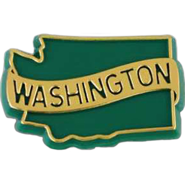 Washington - Plastic Stock State Design Lapel Pin With A Clutch Back Photo