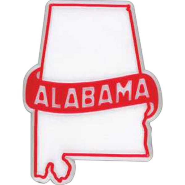 Alabama - Plastic Stock State Design Lapel Pin With A Clutch Back Photo
