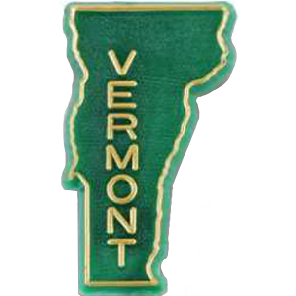 Vermont - Plastic Stock State Design Lapel Pin With A Clutch Back Photo