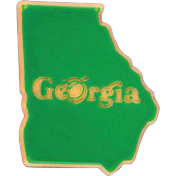 Georgia - Plastic Stock State Design Lapel Pin With A Clutch Back Photo