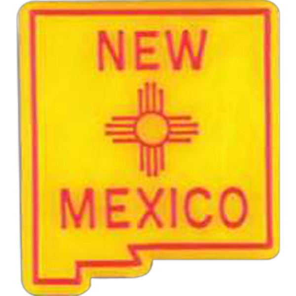 New Mexico - Plastic Stock State Design Lapel Pin With A Clutch Back Photo