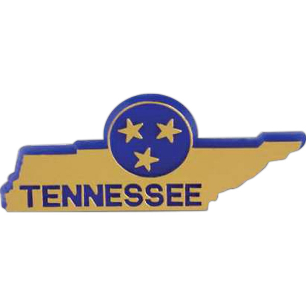 Tennessee - Plastic Stock State Design Lapel Pin With A Clutch Back Photo