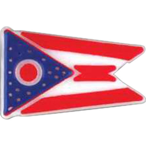 Stock Ohio State Flag Design Lapel Pin With Clutch Style Back Photo