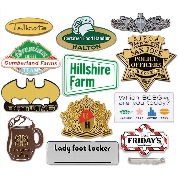 "Up To 1 1/2"" X 1 1/2"" - Custom Molded Plastic Badge With The 3-dimensional, Multi-level Appearance Photo"