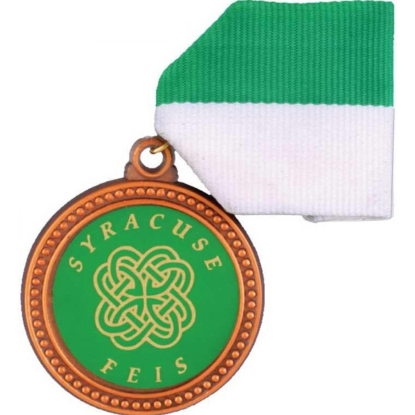 Molded Stock Medals And Medallions With Draped Ribbon Photo