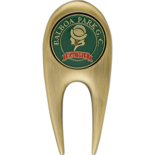 Divot Tool With Arch Top And Golf Ball Marker Photo
