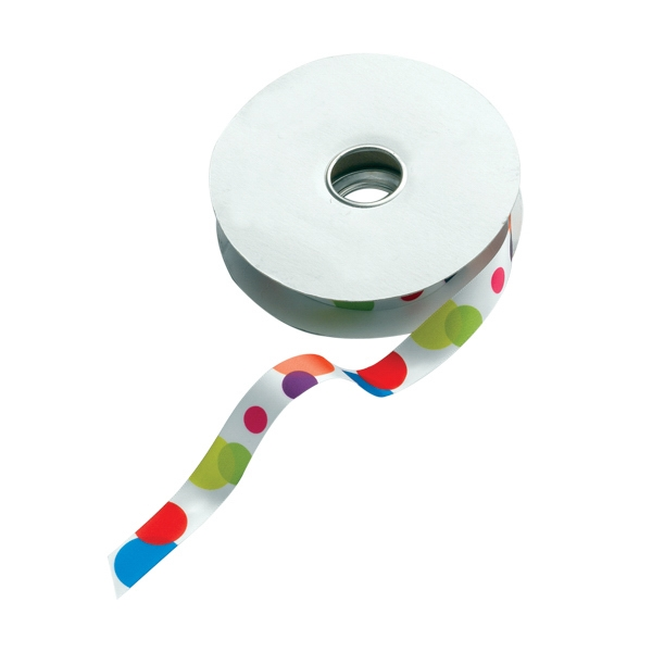 "5/8"" Dye-sublimated Satin Ribbon Spool Photo"