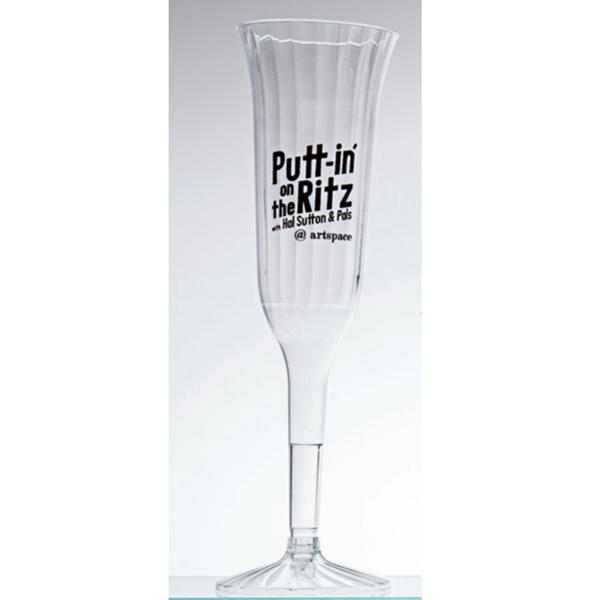 5 oz Fluted 2 Piece Disposable Plastic Champagne Flute